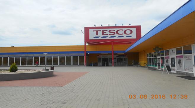 Žlté TESCO. Nádherné, nemyslíte? Foto: trebisov.sk