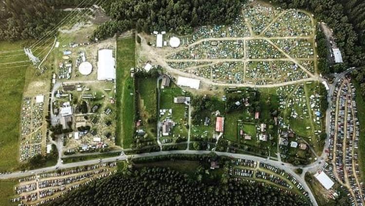 Pohľad na CampFest z vtáčej perspektívy. Foto: FB Marián Lipovský
